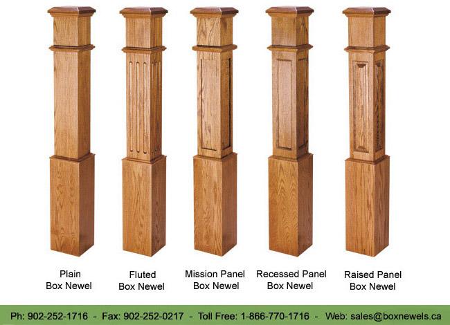 Box Newels Canada Shop Solid Hardwood Newel Post